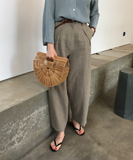 LINEN WIDE PANTS (3COLOR)