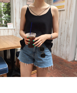 b.b slender strap sleeveless (black)
