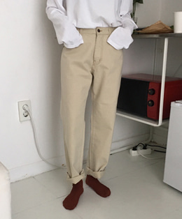 cotton stitch pants (2color)