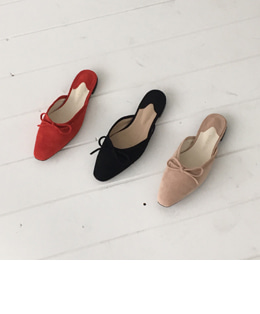 ribbon mule shoes (3color)