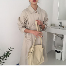 Nania hidden single trench coat (3color)