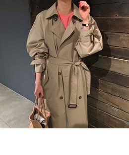 Emily cape trench coat (beige)