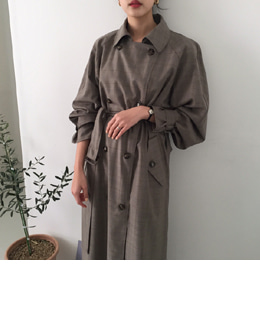 Emily cape trench coat (italy check)