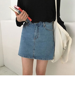 washing denim skirt