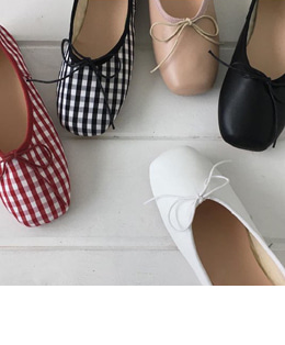 ballet ribbon flat (5color)