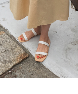 Two line sandal (3color)