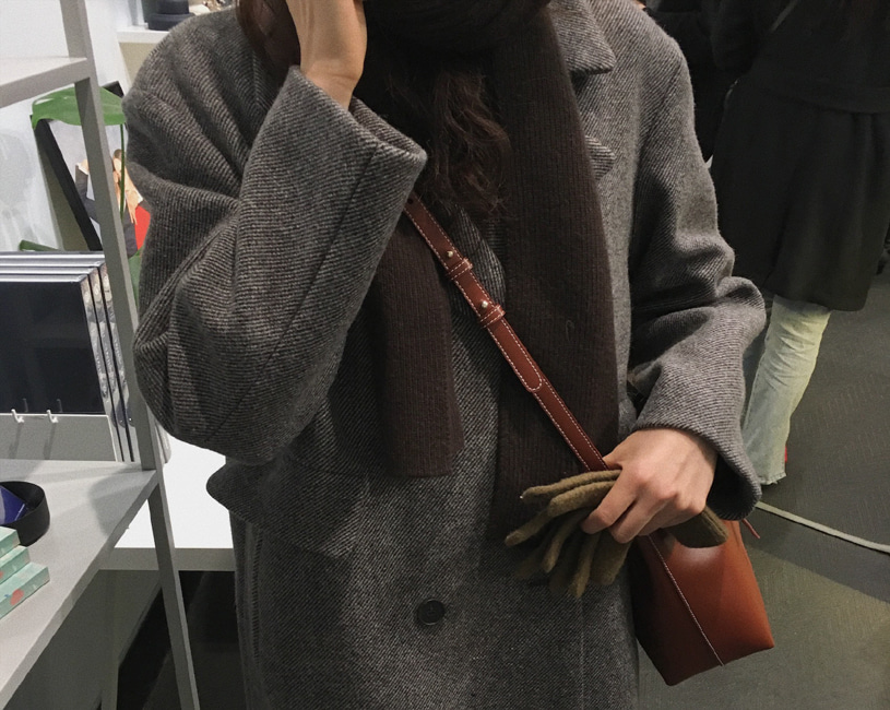 [당일출고] Leeum coat (brown herringbone)