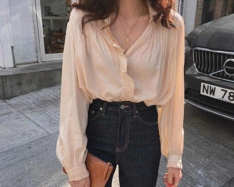 Monet blouse (peach)