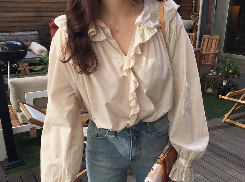 Canto blouse (beige)