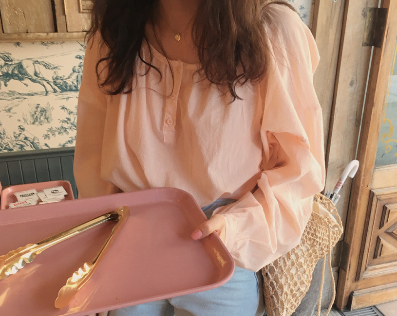 Baby blouse (peach pink)