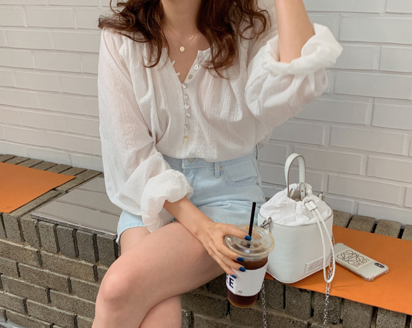 Monica blouse (ivory)