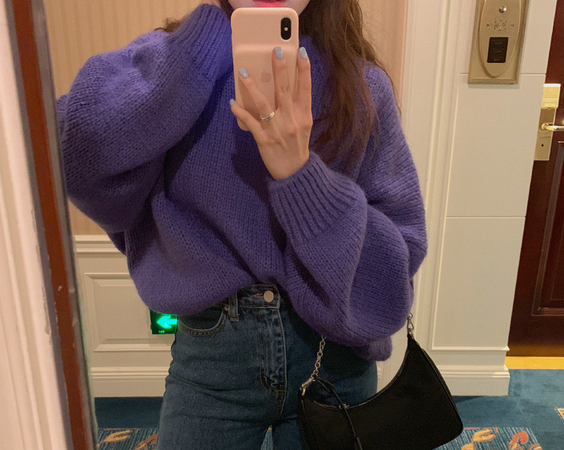 Quoi knit (purple)