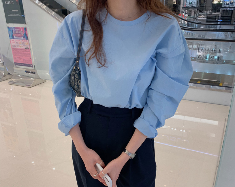 Easy blouse (skyblue)