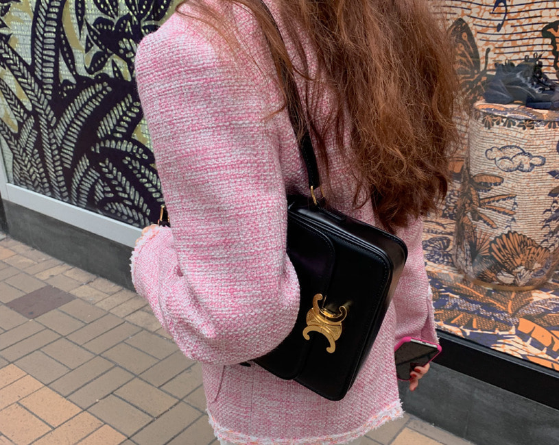 Bloom tweed jacket (pink)