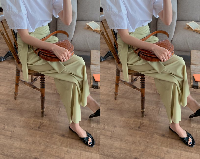 Basil wrap pants (olive)