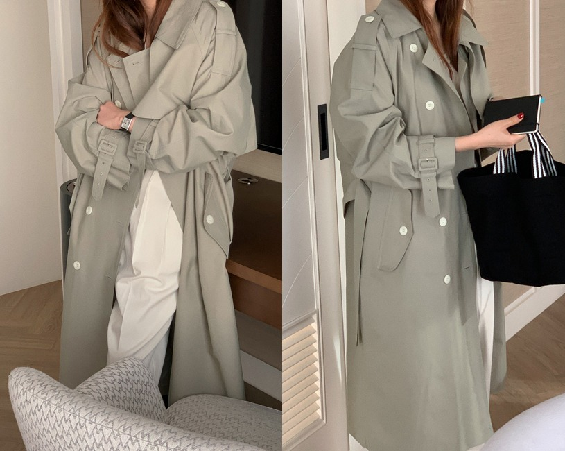 Vague trench coat (2color)