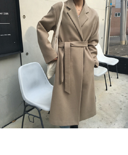 sensual wool robe long coat (oatmeal)