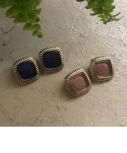 square gold earring(2color)