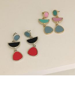 three design earring(2color)