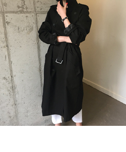 french matin trench coat (black)
