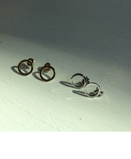 circle small earrings (2color)
