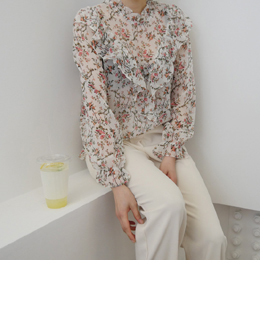flower shop blouse (ivory)