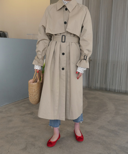 LEMAIRE SINGLE TRENCH COAT (2color)