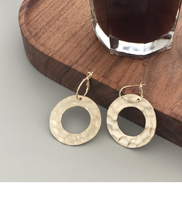 double circle earrings(2color)