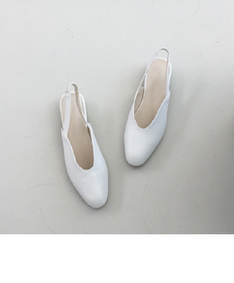 blossom sling shoes (ivory)