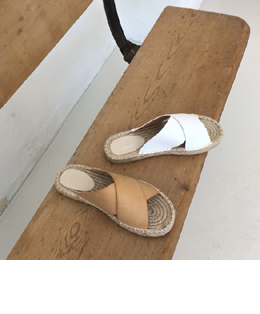 straw slipper (2color)