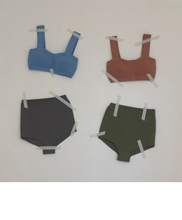 sweet two-tone knit swimwear (2color)