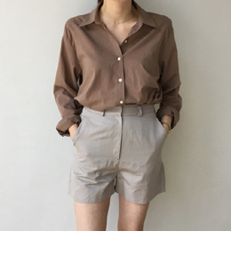[sale] mild soft color blouse (3color)