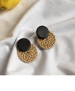 two circle earrings