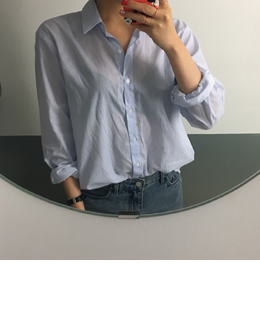 [sale] plain stripe shirts (2color)