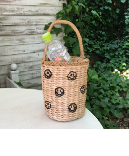 smile straw bag