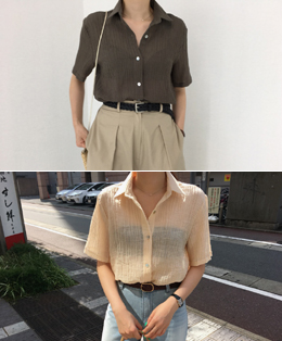 CREASE BLOUSE (3COLOR)