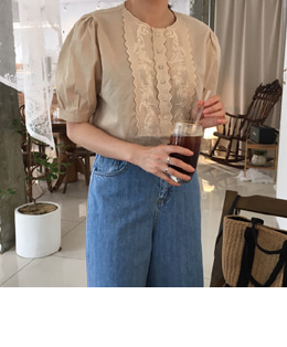 ANTIQUE MOOD LACE BLOUSE (3COLOR)