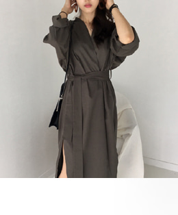[sale] FALL ROBE CARDIGAN-DRESS (3COLOR)