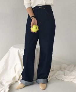 OPEN DENIM PANTS (DEEP BLUE)
