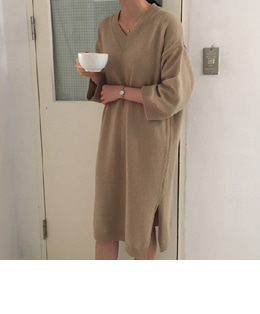 elena cashmere dress (4color)