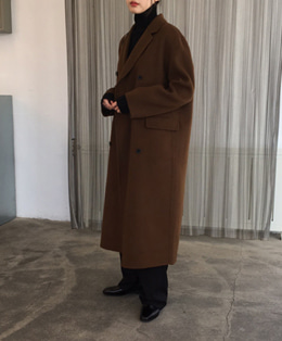 about double handmade coat (brown)