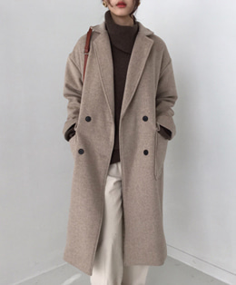 OVER WOOL COAT (2COLOR)