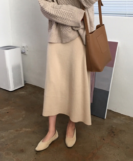 elly wool skirt (beige)