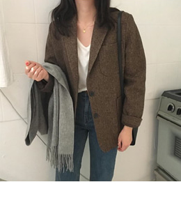 [sale] old standard herringbone jacket (2color)