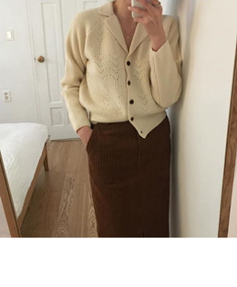 [sale] little girl collar cardigan (2color)