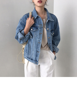 Lazy denim jacket