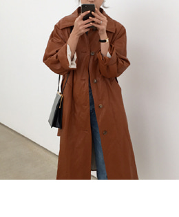 leather trench (camel)