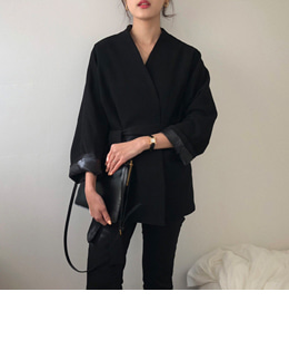 non collar robe jacket (2color)