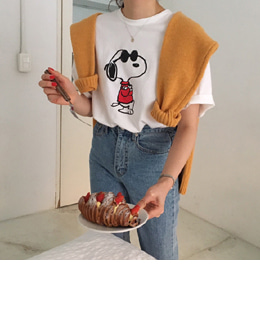snoopy tee (3color)