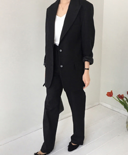 celine set jacket (black)